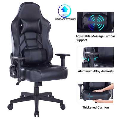 5 Chaise de jeu Blue Whale avec coussin lombaire de massage