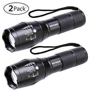 Lampe de poche tactique LED Binwo Super Bright 2000 Lumen XML T6 Lampes de poche